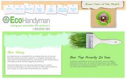 creative website design of a handyman and eco friendly site